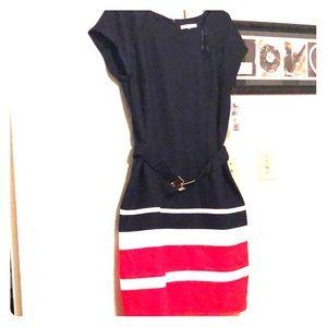 Navy blue nautical dress, studio one sz 16